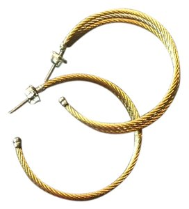 Charriol Charriol Gold Cable Hoop Earrings