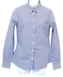 Banana Republic Striped Shirt Button Down Shirt Blue and White