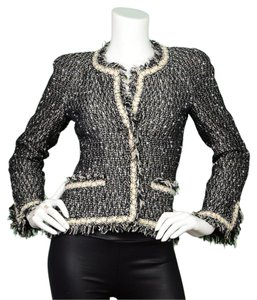 Chanel Boucle Tweed Black and white Blazer