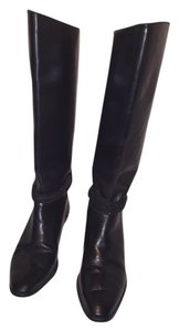 Unisa Riding Style Leather Black Boots