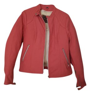 First Classics Leather Leather Motorcycle Pink Jacket