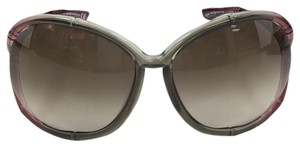 Tom Ford Claudia Tom Ford TF 75 634 Transparent Olive Fades Plastic Sunglasses