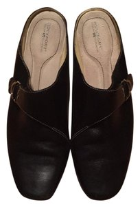 Rockport Leather Black Mules
