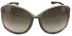 Tom Ford Claudia Tom Ford TF75 634 Transparent Olive Sunglasses