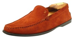 Tod's Suede Moccasins Loafer Red Flats