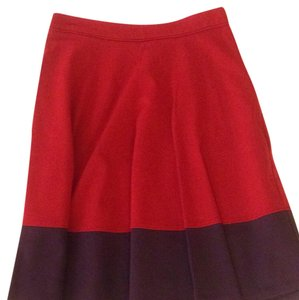 Boden Skirt Red / purple.