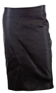 Diane von Furstenberg Dvf Leather Pencil Skirt Black
