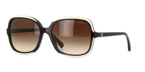 Chanel Chanel LIKE NEW sunglasses square black/beige Havana 5319