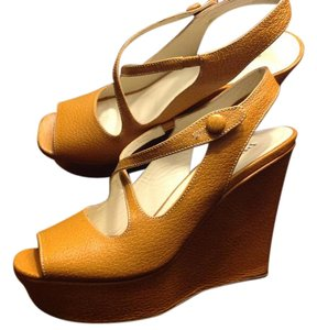 Prada Camel Wedges