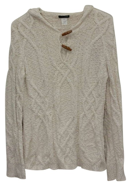 Preload https://item5.tradesy.com/images/jcrew-ivory-cable-knit-hooded-sweaterpullover-size-8-m-202614-0-0.jpg?width=400&height=650