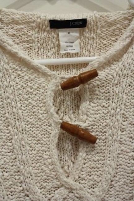 J.Crew Cable Knit Hooded Summer Toggle Sweater