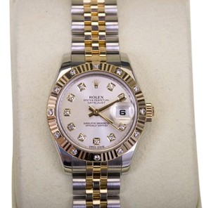 Rolex Rolex Ladies DateJust Two-Tone 179313 Diamond Dial & Bezel
