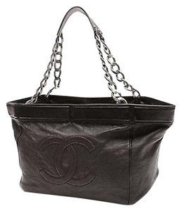 Chanel Distressed Tote in Black