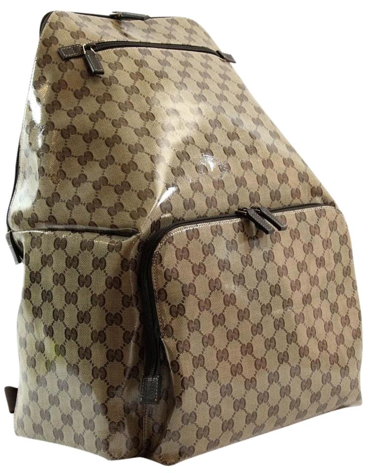 Gucci 179606 Gg Guccissima Xl Travel Brown Crystal Coated Canvas ... c688c1d28d1f8