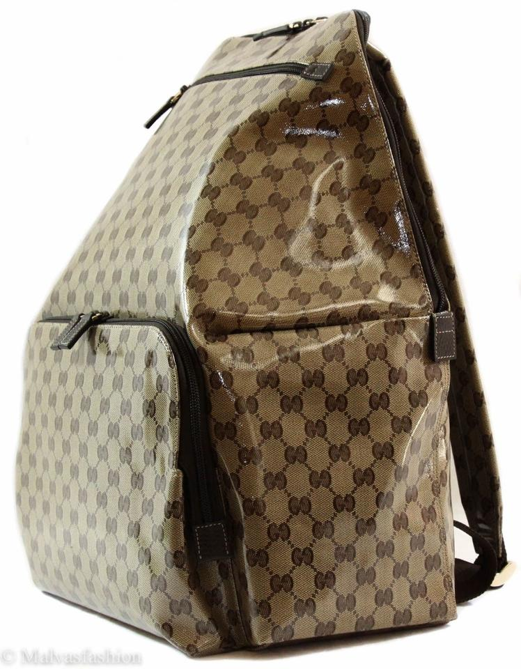 Gucci 179606 Gg Guccissima Xl Travel Brown Crystal Coated Canvas Backpack -  Tradesy df782cf0d664e