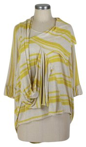 Anthropologie Top yellow & beige