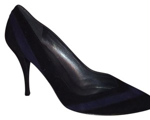 Stuart Weitzman Black with Blue Pumps