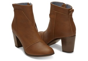 TOMS Lunata Leather Warm Tan Boots