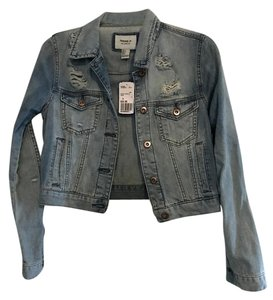 Forever 21 Distressed 21 Denim Womens Jean Jacket