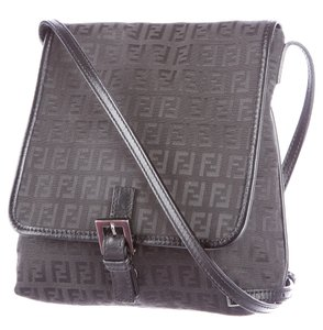 Fendi Silver Hardware Monogram Zucca Zucchino Embellished Shoulder Bag