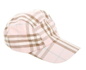 Burberry Pink, tan multicolor Burberry Nova Check baseball cap