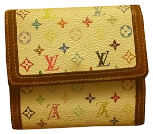Louis Vuitton Auth Louis Vuitton Multicolor 2 Sides Wallet