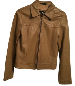 XOXO Tan Leather Jacket