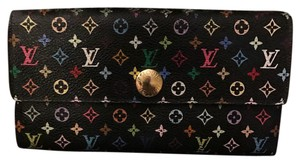 Louis Vuitton Louis Vuitton Sarah Wallet Multicolor Noir And Fuschia