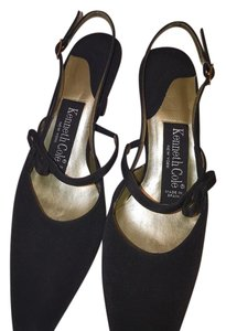 Kenneth Cole Peau De Soie Fabric Black Pumps