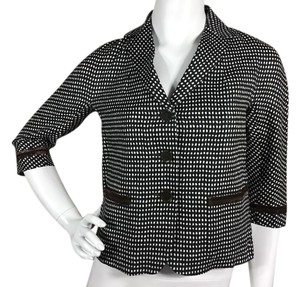 Max Mara Linen Black Brown White Blazer