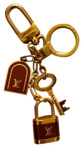Louis Vuitton 100% Authentic Louis Lock Padlock LV Logo Key Charm