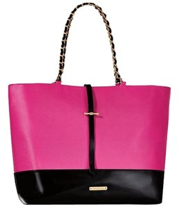 Juicy Couture Geniune Large Clip Closure Tote in Pink/Black