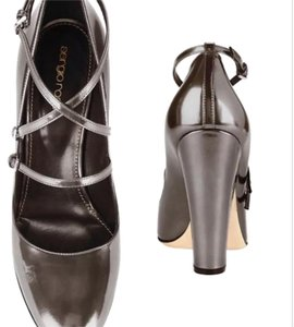 Sergio Rossi Gunmetal gray Pumps