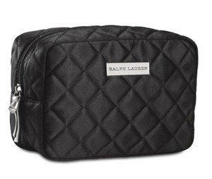 Ralph Lauren Ralph Lauren Tender Romance Quilted Black Cosmetics Makeup Bag