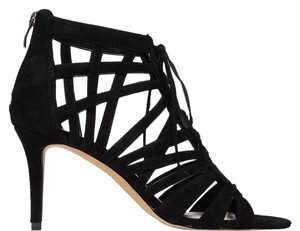 Vince Camuto Caged Laced Zip Strappy Black Formal