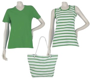 Other T Shirt GREEN & GREEN & WHITE STRIPE