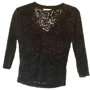 bebe Velvet Top BROWN