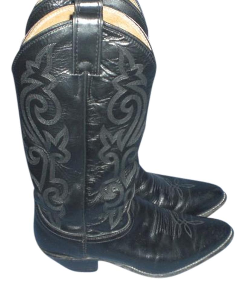 adf9ce0556c Justin Black Womens L4911 London Calf Western Cowgirl Boots/Booties Size US  8 Regular (M, B)