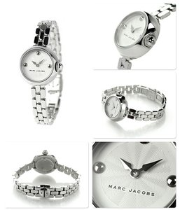 Marc Jacobs Marc Jacobs Ladies Watch- Courtney Silver-tone Stainless Steel