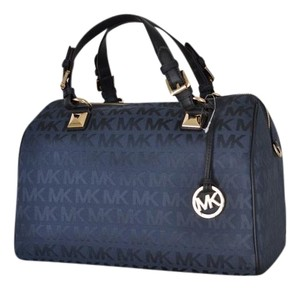 Michael Kors Jacquard Satchel in Gray