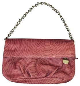 Ann Taylor LOFT Leather Pink Rose Pink Clutch
