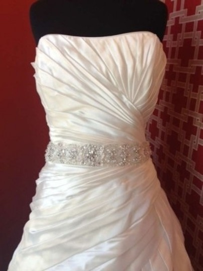 Maggie Sottero Ivory Satin Gladis Formal Wedding Dress Size 16 (XL, Plus 0x)