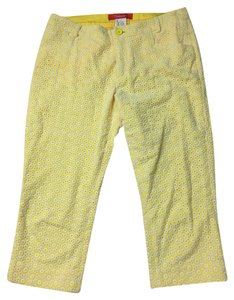 Anthropologie Capris Yellow