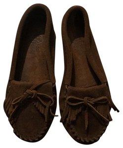 Minnetonka Mocassins Suede Comfortable Brown Flats