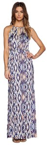 Multi Maxi Dress by Parker Beaded Maxi Print New With Tags