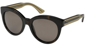 Gucci NEW Gucci Oversize Dark Brown Rounded Sunglasses