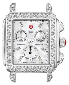 Michele NEW Deco Signature Pave Diamond Limited Rare Ladies Watch