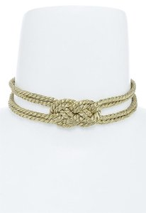 hausofgiovanni Knotted Metallic Necklace Choker