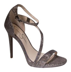 Jessica Simpson Bronze Metallic 8 Strappy Metallic Bronze Sandals
