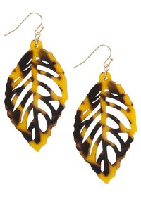 hausofgiovanni Fossil Tropic Leaf Earrings
